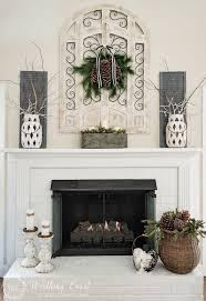 Christmas Decoration For Home by Mantel Fireplace Mantel Decor With Garlit And Lantern For Home