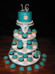 leilani u0027s heavenly cakes tiffany blue sweet 16 cake u0026 cupcakes