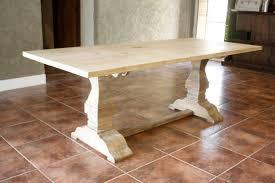 restoration hardware marble table restoration hardware inspired trestle dining table build it craft