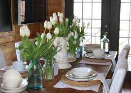 formal dining room table centerpiece ideas mocha stained teak wood