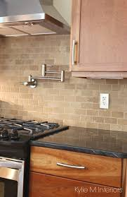 what backsplash looks with cherry cabinets 4 subway tile ideas for your kitchen backsplash and bathroom