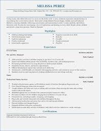 nanny resume exle nanny resume exles buildbuzz info