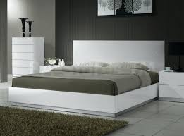 White Gloss Bedroom Mirror Sears Bed Frames Platform Bed Eddy High Gloss White Bedroom Set