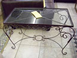 table stunning iron sofa table wrought glass console the most popu