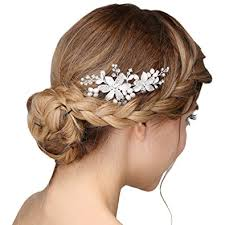 haarschmuck hochzeit blume damen kristall strass perlen haarekämmen blume haarschmuck