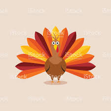 vector turkey card for thanksgiving day stock vector more