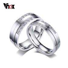 aliexpress buy vnox 2016 new wedding rings for women vnox wedding rings for women men fashion silver color cz