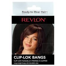 clip on bangs revlon ready to wear hair clip lok bangs target