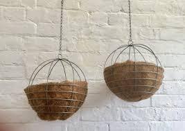 spherical metal hanging planters hanging baskets in exeter