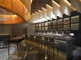 waku ghin restaurant with modern bar design leed restaurant