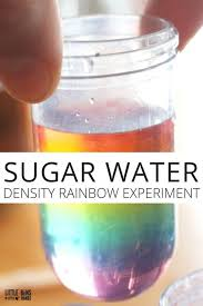 sugar water density rainbow science experiment