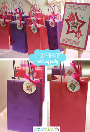 party favor bags lego friends birthday party favor bags bliss