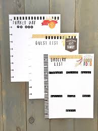 thanksgiving planning pages for the happy planner thanksgiving