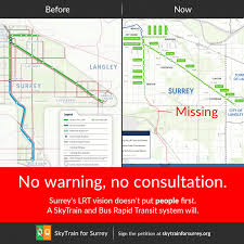 Vancouver Skytrain Map City Lrt Vision Excludes S Surrey White Rock Skytrain For Surrey
