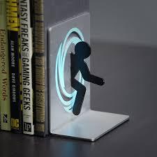 portal bookends thinkgeek