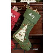 jeweled tree beaded faux suede christmas stockings