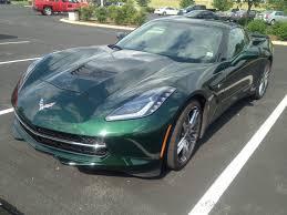 corvette stingray green lime rock green full daylight pictures corvetteforum chevrolet