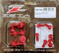 zeta aluminum bolt red kit for suzuki drz sm 400 05 15 ebay