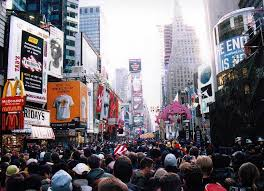 2000 new years times square new years 2000 crowds