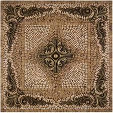 metal mural grand rachel mosaic tile backsplash by landmark metal