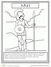 myth of perseus and medusa myth of oedipus coloring page greek