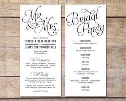 wedding progams simple wedding program customizable design