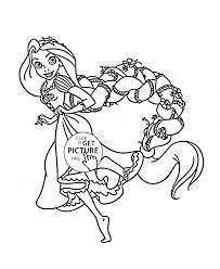 funny princess rapunzel coloring kids disney princess