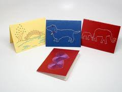 greeting cards with handmade embroidery kolours