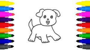 how to draw puppy coloring pages drawing and coloring cute puppy