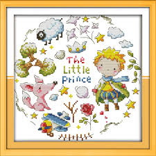 popular prince fabric buy cheap prince fabric lots from china the little prince cross stitch kit cartoon people 14ct 11ct counted pre print fabric canvas