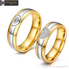 the goods wedding band fashion jewelrygolden silver with heart sculpture for woman and
