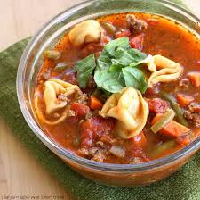 Italian Soup by Italian Sausage Soup With Cheese Tortellini The Who Ate