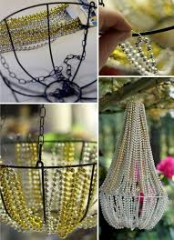 How To Make Crystal Chandelier 50 Dollar Store Crafts Beaded Chandelier Dollar Stores And