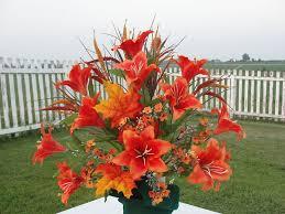 cemetery flower arrangements fall thanksgiving cemetery flowers orange summer grave urn