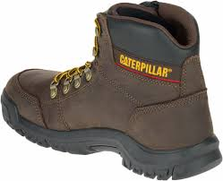 womens work boots caterpillar outline toe seal brown cat work books free ship