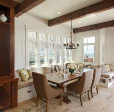 superb cozy dining room with long banquette seating for dining set