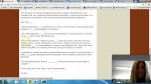 Format Of A Complaint Letter Samples by Sample Complaint Letter Youtube