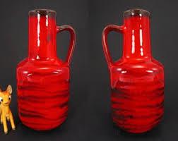 Bauer Vase Vintage Bauer Vases Etsy