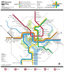 Washington Dc Map Usa by Washington D C Metro Map
