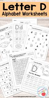 letter d worksheets alphabet series easy peasy learners
