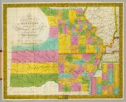 Missouri State Map Map Of The State Of Missouri And Territory Of Arkansas David