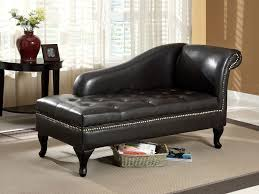 Gray Nailhead Sofa Lux Black Leather Nail Head Trim Under Seat Storage Chaise
