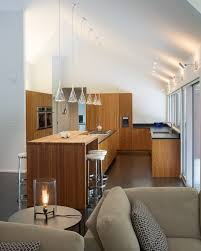 sloped ceiling lights kitchen modern with cabinet front
