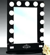 Cordless Lighted Makeup Mirror Vanities Front View Cordless Dual Sided Led Lighted Vanity