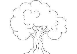 kids drawing of an oak tree coloring page kids drawing of an oak