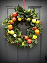 Kitchen Apple Decor by Fruit Wreath Apple Orange Lemon Lime Pear Wreath Fruit Decor