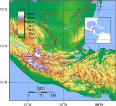 geographical map of guatemala geography of guatemala