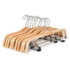wood hangers 10 pack royalhanger hangers skirt
