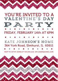 day chevron invitation diy printable red glitter and silver foil