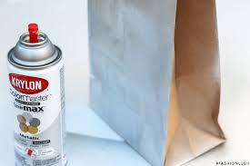 Bag Vase Diy Metallic Paper Bag Vase